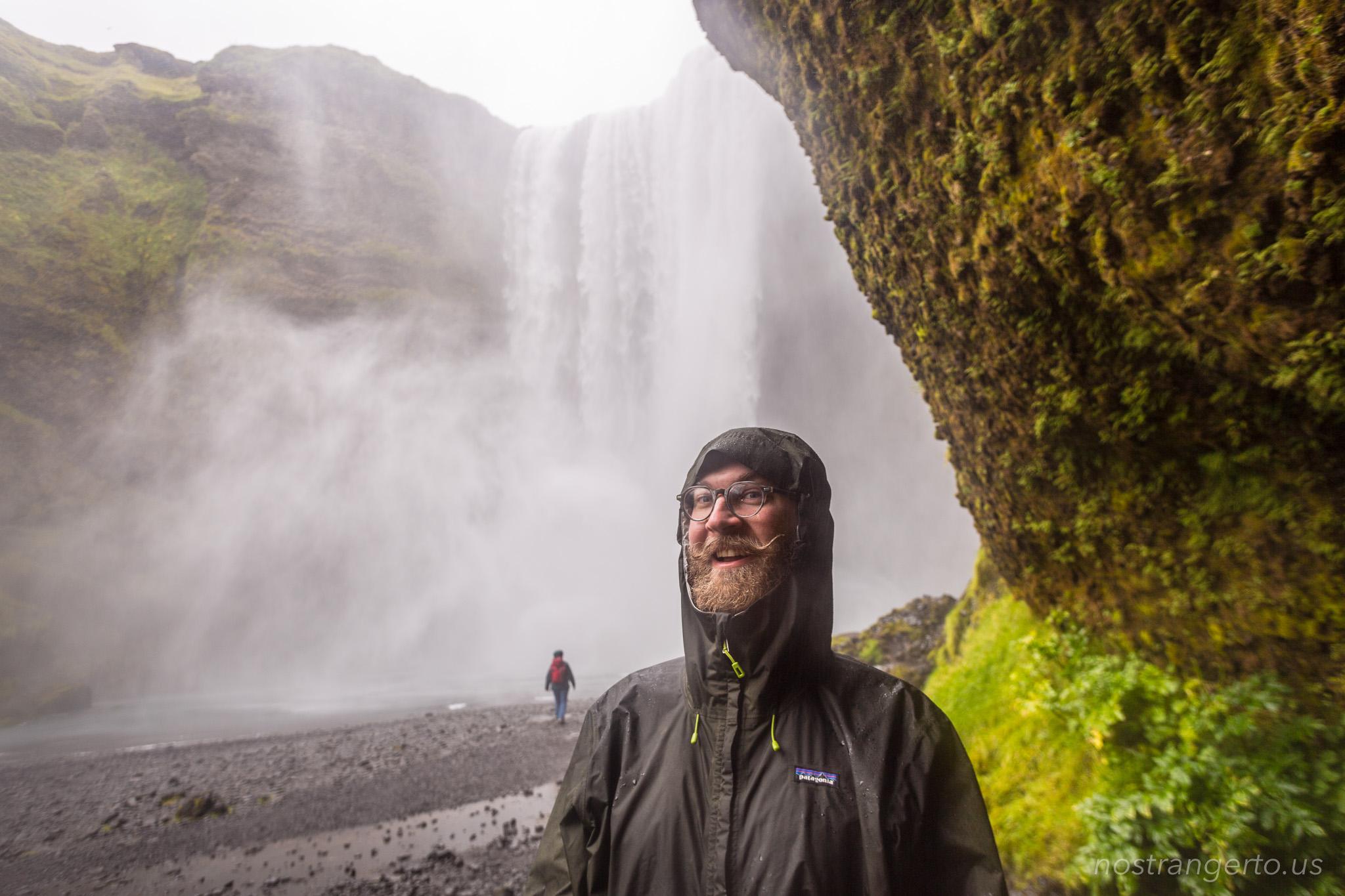 Iceland Skógafoss Waterfall