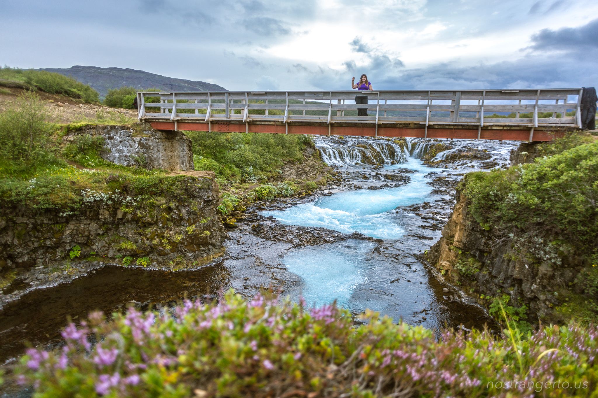 Iceland Brúarfoss Falls - Iceland trip