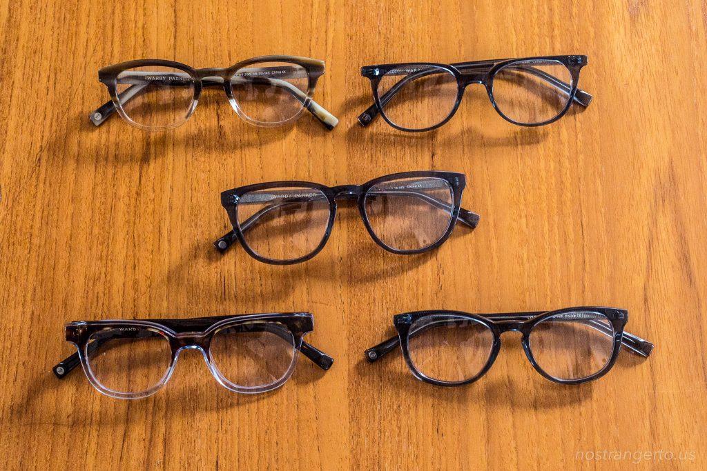 5 Pairs of eye glasses