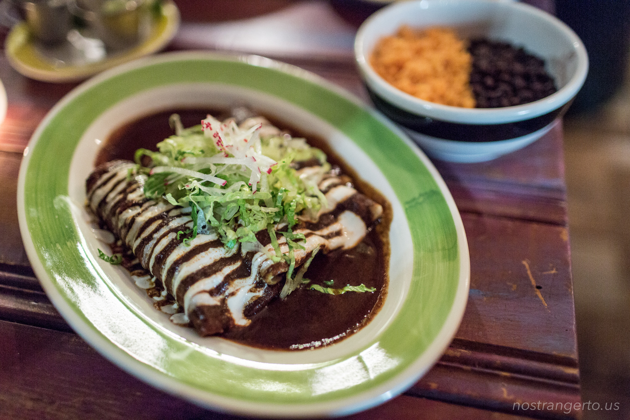 Mole Enchilada from the vegan menu