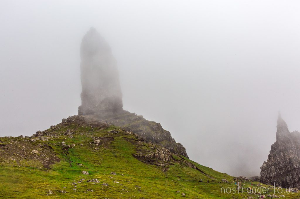 Old Man Storr peaking behind another cloud