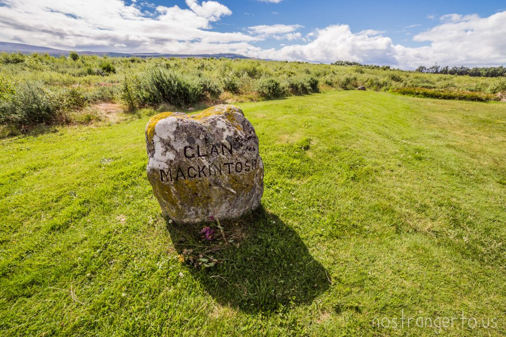 These two stones mark the length of the mass grave for the Clan Mackintosh after the Battle of Culloden.