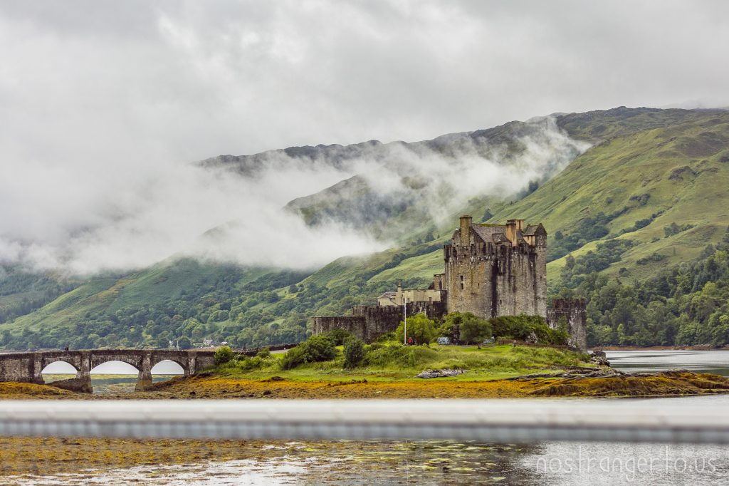 Eilean Donan Castle sits at the meeting place of Loch Duich, Loch Long and Loch Alsh, in the western Highlands of Scotland.